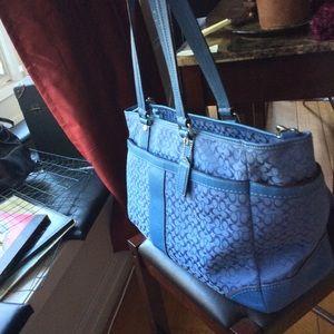 Coach tote,business, beach and diaper bag.